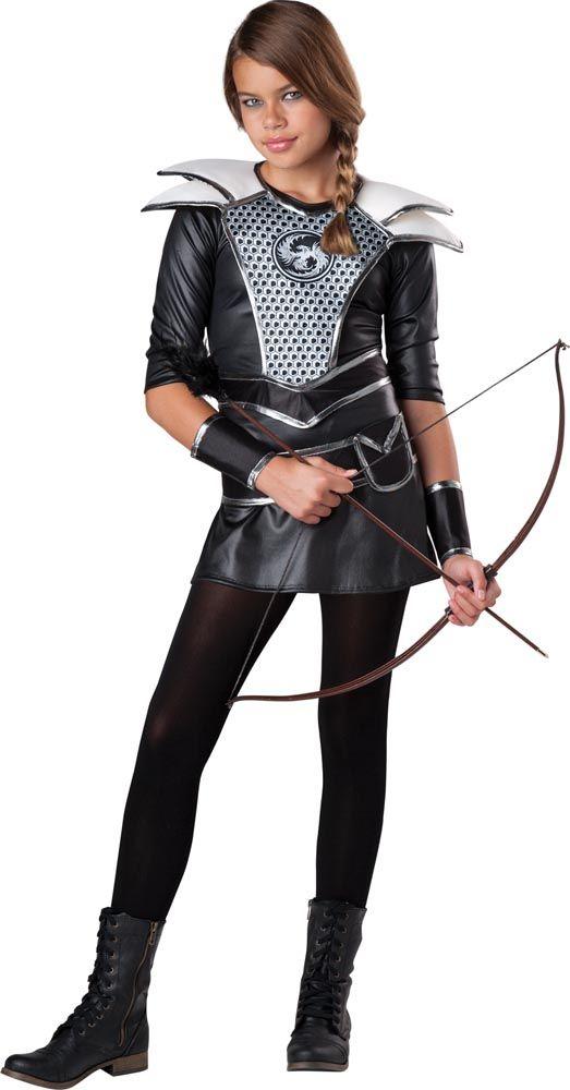 Teen Girls Midnight Huntress Costume - Hunger Games - Teen Girls Costumes - Costumes