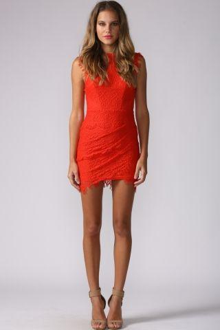 HelloMolly | Milkshake Dress Red - Party Dresses - Dresses