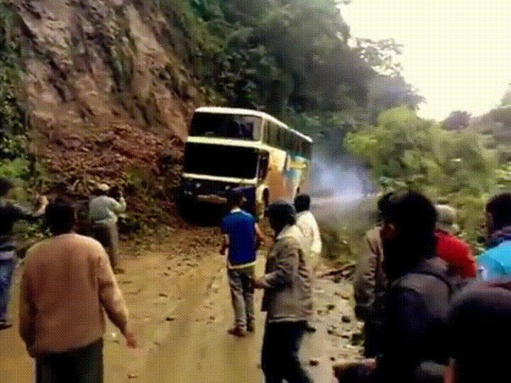 Bus accident (Yungas Road Bolivia).