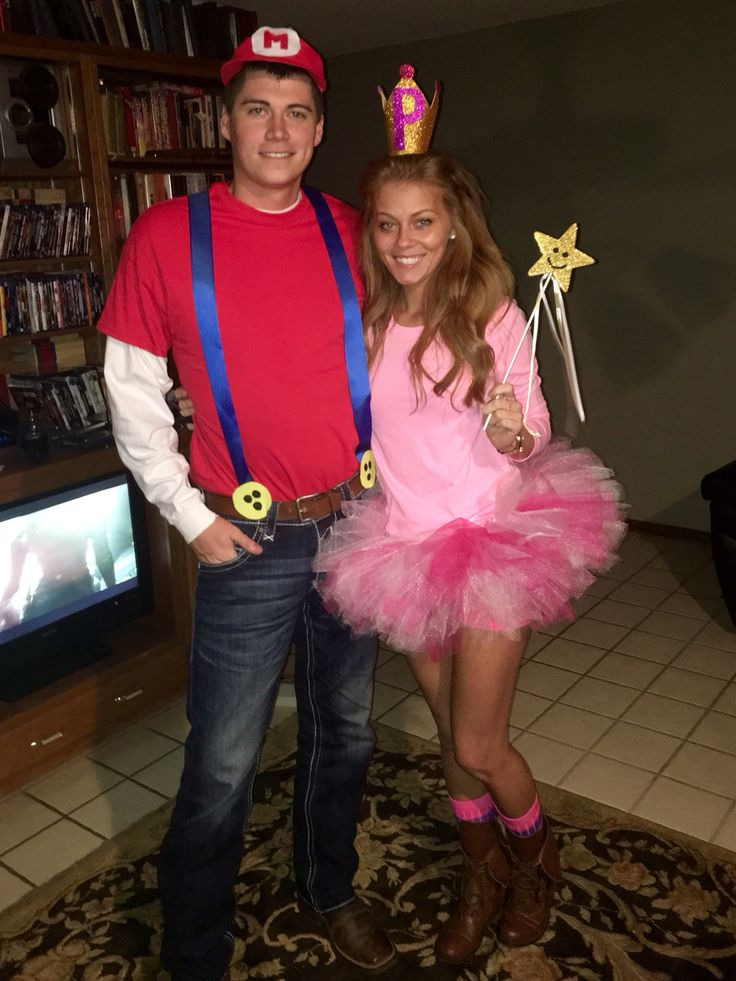 Mario and Princess Peach Halloween Costume Idea