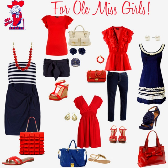 Game day outfit for ole miss girls :)