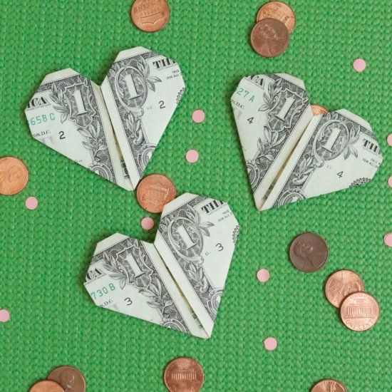 You're right on the money, Valentine! This year hand out these non-candy (but still super sweet) origami valentines