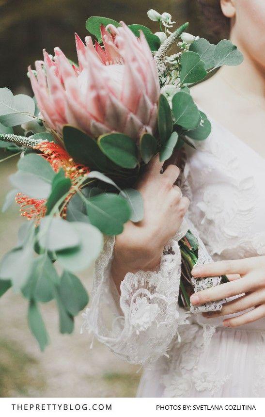 Stunning Protea Bridal Bouquet | Photography by Svetlana Cozlitina