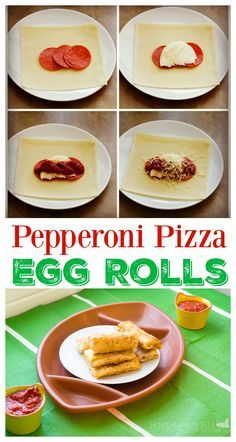 Pepperoni Pizza Egg Rolls - easy and homemade egg rolls for the Big Game!  #ad #YesYouCAN