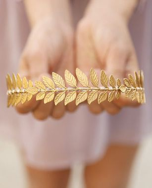 The Triple Golden Goddess Leaf Headband