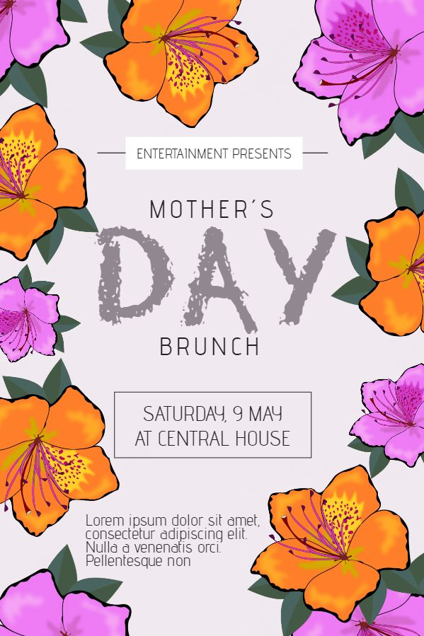 39 best Mother\'s Day Themed Poster Design images on Pinterest