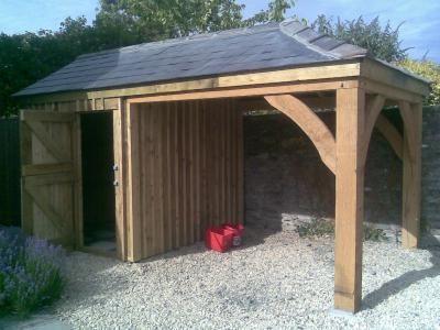 Oak Frame Car Port With Soft Wood Store Room We Offer A