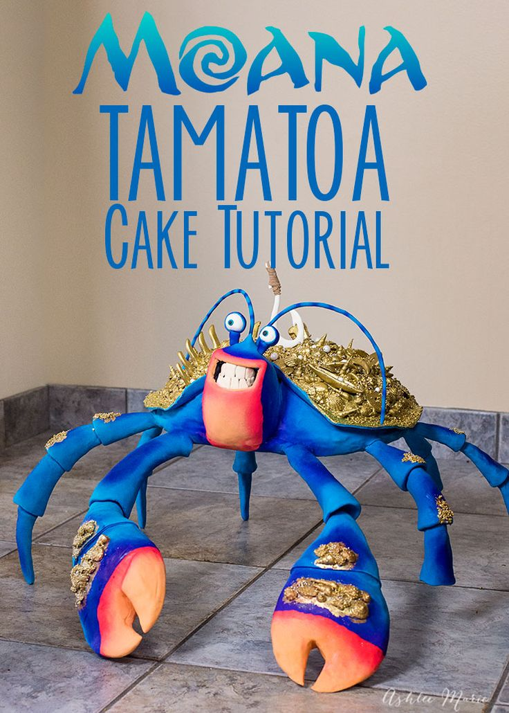 how to make this huge Tamatoa cake from Disney's Moana - video tutorial by Ashlee Marie