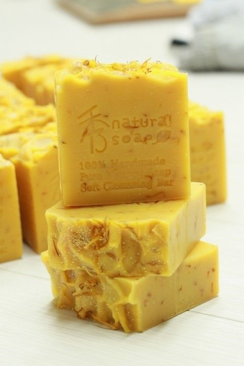 Red palm calendula soap