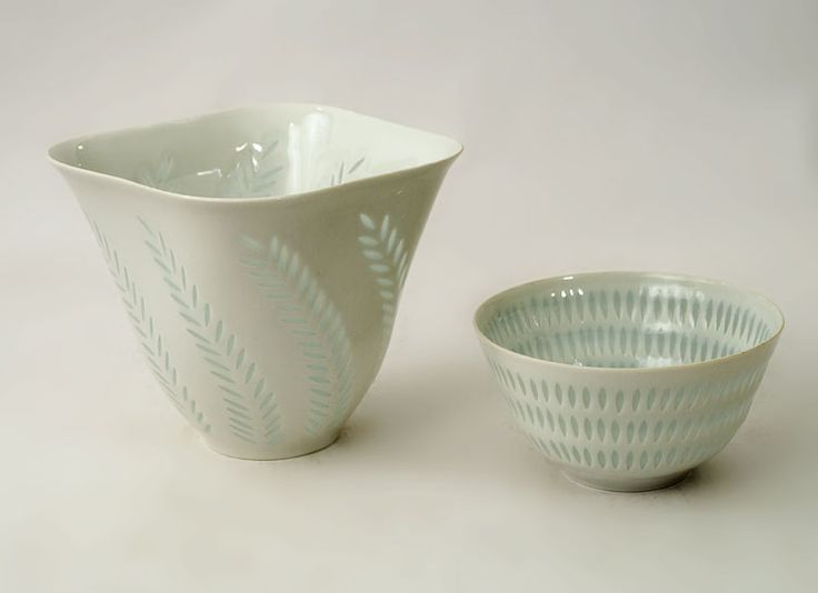 """Friedl Holzer Kjellberg for Arabia, Finland """"Rice"""" porcelain vase, c. 1960s."""