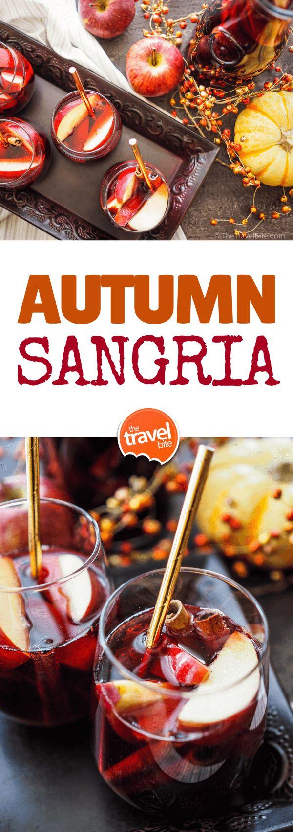 Autumn Sangria ~ http://thetravelbite.com