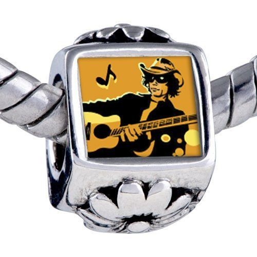 Pugster Silver Plated Photo Bead Music Theme Country Singer Photo Flower European Charm Beads Fits Pandora Bracelet Pugster. $12.49. Fit Pandora, Biagi, and Chamilia Charm Bead Bracelets. It's the photo on the flower charm. Hole size is approximately 4.8 to 5mm. Unthreaded European story bracelet design. Bracelet sold separately