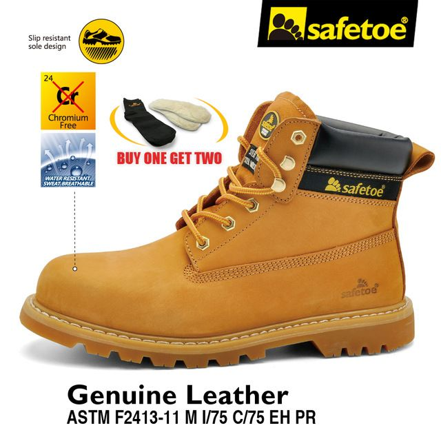 49deb6c0bb9 Safetoe Mens Safety Shoes Work Boots Trainers Yellow Extra Wide ...