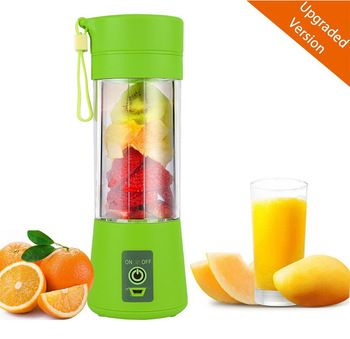 Personal Smoothie Blender Rechargeable Electric Juice Maker with 2200mAh Bettery Portable Mixer 380ml Juicer Bottle
