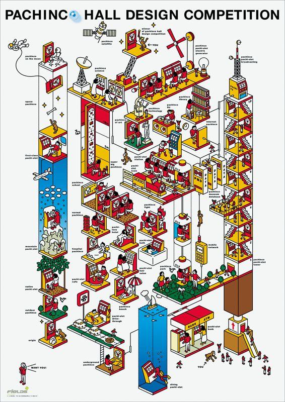パチンコホール デザイン コンペティション / ポスター/ 2001年