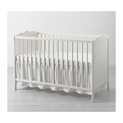 LEN Crib skirt, white - white - IKEA