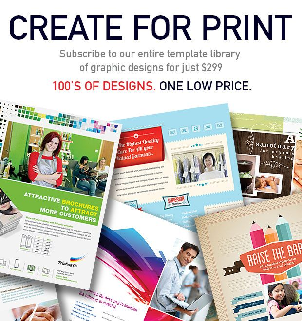 create for print  100s of designs  one low price