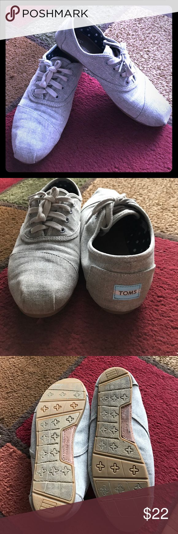 Toms!! Gray Toms shoes...bought from another posher, love the shoes just never wore them. Good condition. Toms Shoes