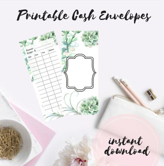PRINTABLE DIY Envelope System, Cash Envelope Template, Dave Ramsey, Budget Envelopes, Envelope System, Envelope Template, Spending Tracker