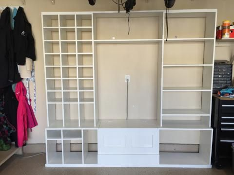 Garage Shoe storage and Bench