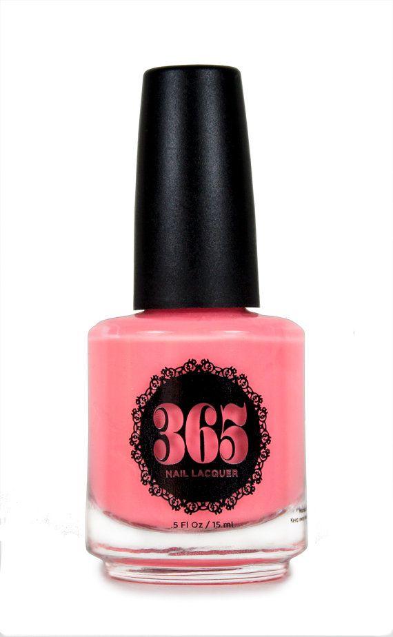 Neon Coral Pink Nail Polish - Anthias