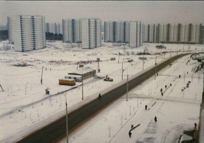 Голубинская. Съемка из дома на пересечении Голубинской и Вильнюсской.
