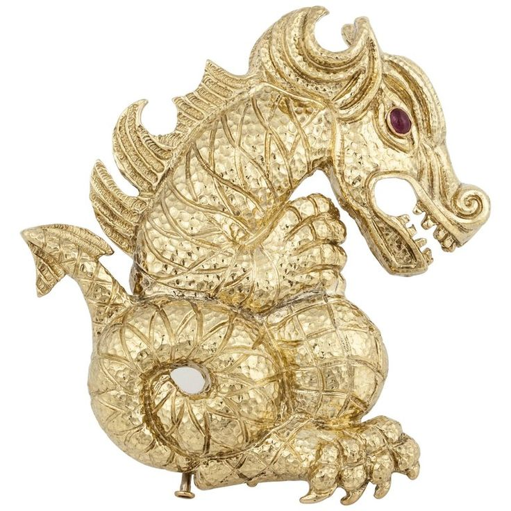 David Webb Dragon Brooch   From a unique collection of vintage brooches at https://www.1stdibs.com/jewelry/brooches/brooches/