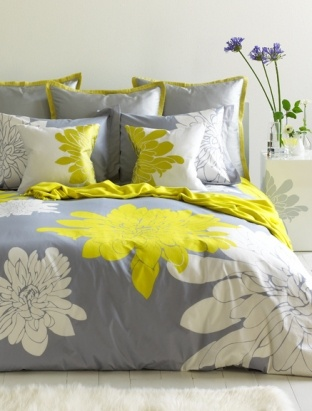 home ashley duvet cover set instantly brings a bright and fresh look to your bedroom with a crisp white and citron green designs on a pewter