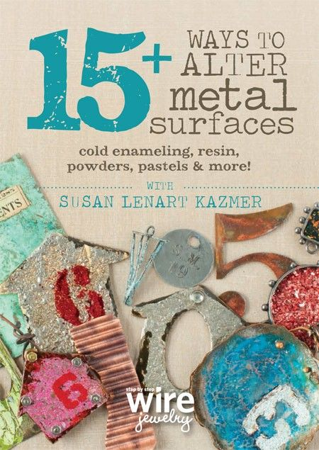 Make a mark on your metal! Dip, dap, heat, and repeat for one-of-a-kind metal jewelry. Join acclaimed jewelry artist, teacher, and author Susan Lenart Kazmer for 15 Ways to Alter Metal Surfaces