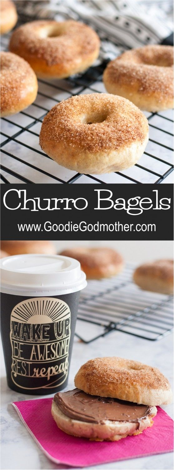 The perfect balance of cinnamon and sugar takes this breakfast favorite to the fair! Churro bagels are a perfect sweet breakfast treat, and leftovers freeze well for later. * Recipe on GoodieGodmother.com