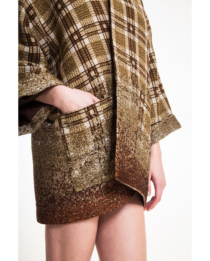 Wool blend kimono