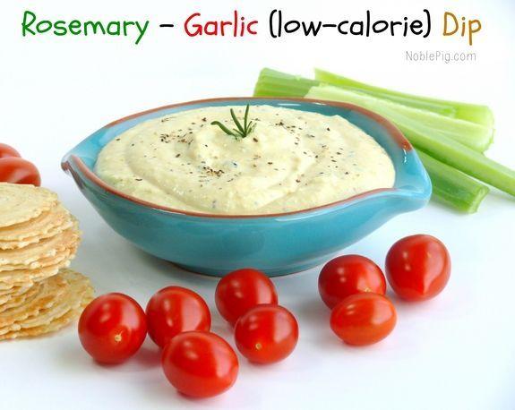 Rosemary Garlic Low Calorie Dip From Noblepig Com Super
