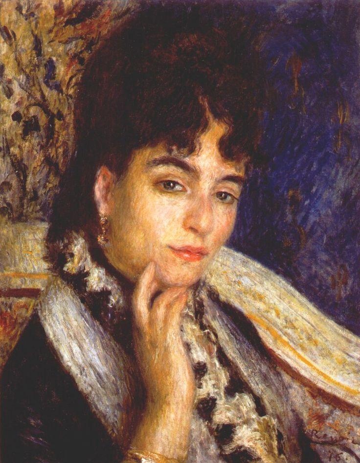 Portrait of Mme. Alphonse Daudet by @artistrenoir #impressionism