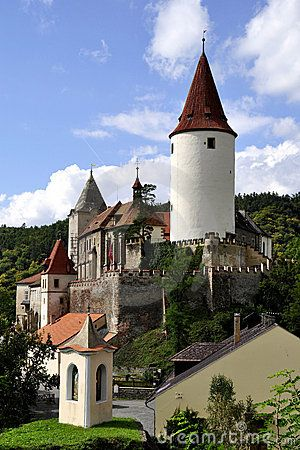 Krivoklat Castle, Czech Republic - founded during the 12th century and belonged to Bohemain kings. During the reign of Přemysl Otakar II a large, monumental royal castle was built, later rebuilt by king Václav IV and later enlarged by king Vladislav of Jagellon.