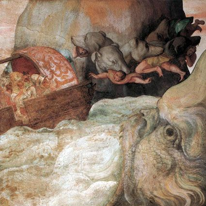 (Symbol #11-Water-Whirlpool)- Charybdis  Scylla, by Alessandro Allori, 1575
