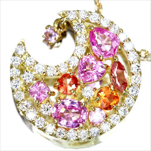 ジュエリー通販ジュエルプラネットマルチカラーサファイアネックレス - http://www.jewel-planet.jp/products/detail.php?product_id=10928#.Uxin5oUnN-w