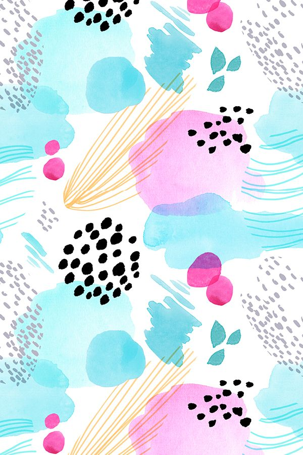 Abstract Watercolor by minikuosi -  Abstract painted watercolor with dots and li... | Abstract HD Wallpapers 11