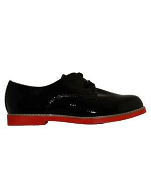 derbies noires vernies de besson chaussures
