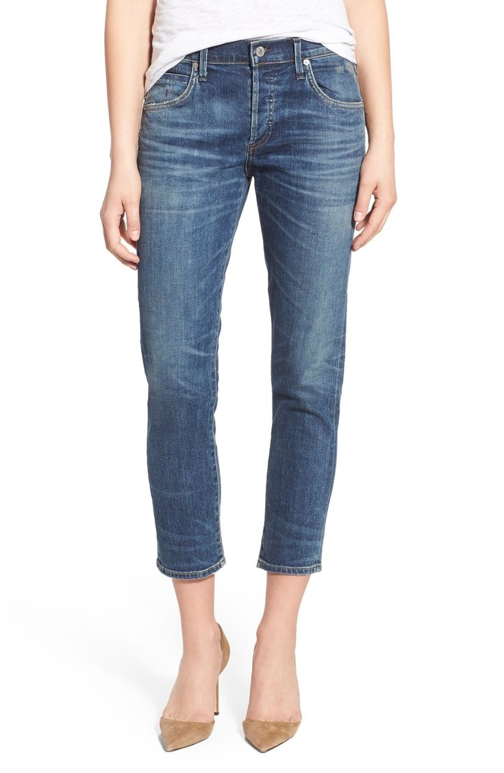 Citizens of Humanity 'Elsa' Crop Slim Jeans (Dossier) available at #Nordstrom