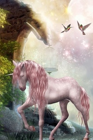 Perhaps the most rare of magical creatures ~ the Pink Unicorn.  tch