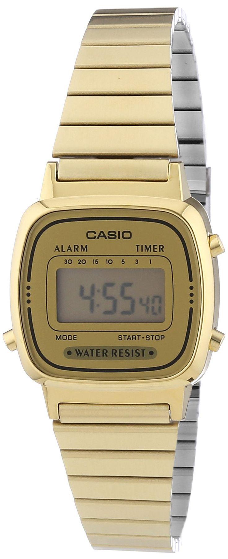 CASIO La670Wega-9Ef - Reloj de mujer de cuarzo, correa de acero inoxidable color oro: Amazon.es: Relojes