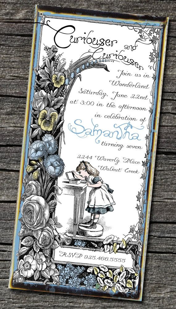 Pack of 25 Alice in Wonderland Invitations