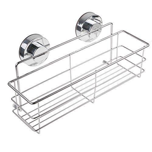 Annstory Super puissant aspirateur d'aspiration en acier inoxydable salle de bains étagère douche Caddy panier de stockage en rack avec verrouillage d'aspiration (Panier de douche) #Annstory #Super #puissant #aspirateur #d'aspiration #acier #inoxydable #salle #bains #étagère #douche #Caddy #panier #stockage #rack #avec #verrouillage #(Panier #douche)