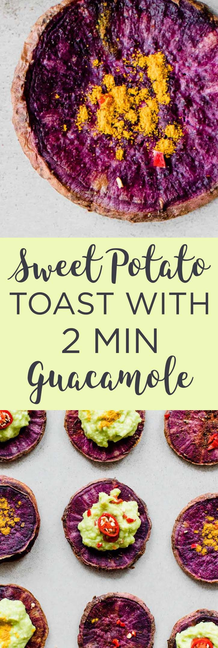 Sweet Potato Toast With Guacamole Recipe