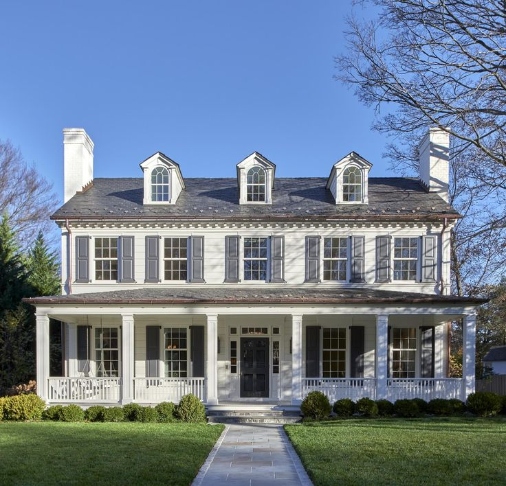 Best 25 colonial house exteriors ideas on pinterest Colonial home builders