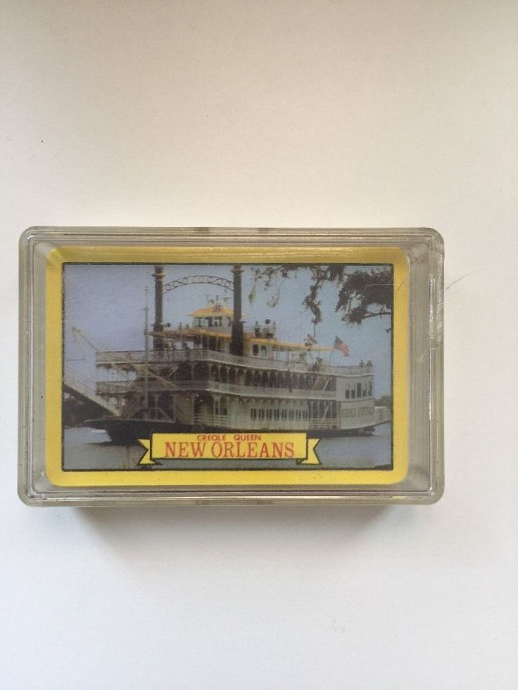 New Orleans Creole Queen Playing Cards Complete Deck Plastic Coated In Vintage