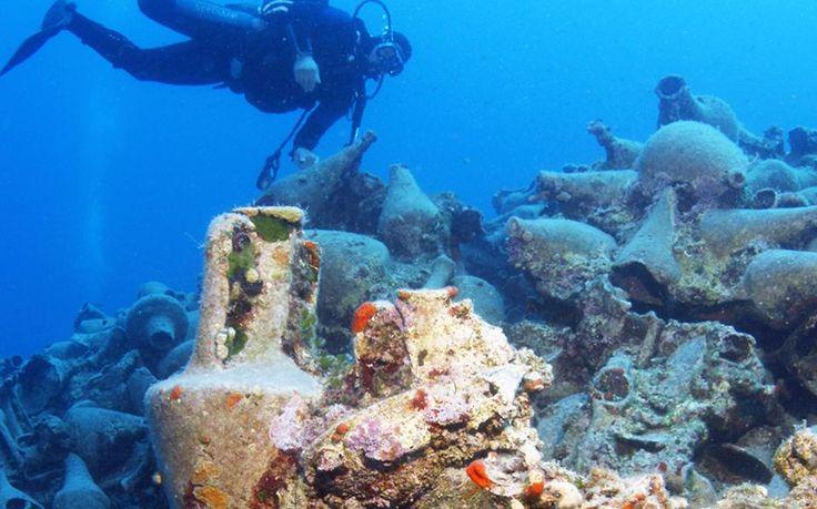 Ο ελληνικός βυθός κρύβει 1400 αρχαία πλοία και αρκετές πόλεις....