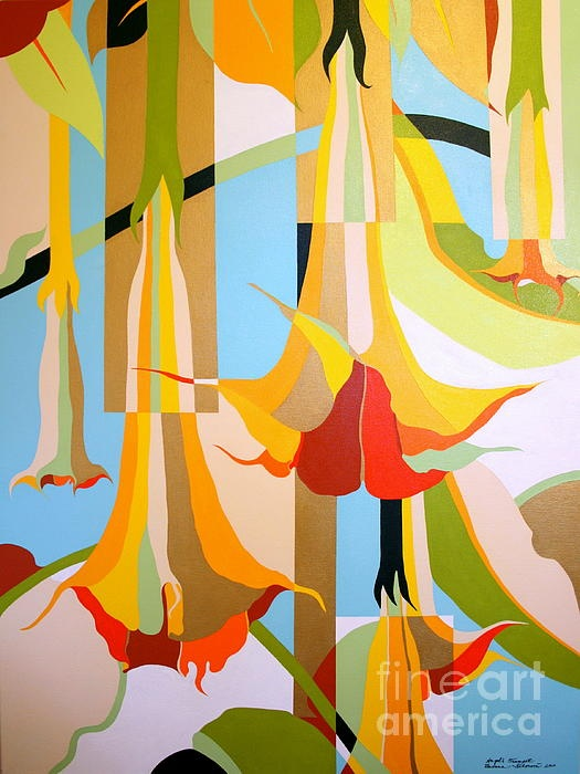 Angels Trumpet by Zuzana Sidorova- new local (quincy) artist I just learned about