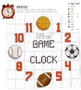 Schema punto croce Orologio Ball Clock 1