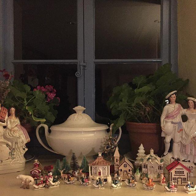 Christmas windowsill
